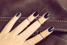 3 Gold Knuckle Rings Midi Rings Midi Ring Above by sweetpeepshere, $5.00