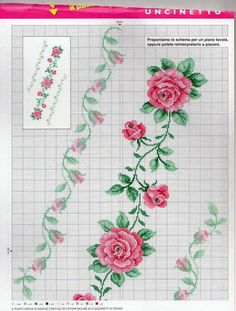 This Pin was discovered by Fat Cross Stitch Pillow, Cross Stitch Borders, Cross Stitch Rose, Cross Stitch Flowers, Cross Stitch Designs, Cross Stitching, Cross Stitch Patterns, Embroidery Patterns Free, Diy Embroidery