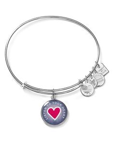 Alex and Ani Listen to Your Heart Expandable Wire Bangle, Charity by Design Collection