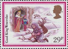 Christmas Carols 29p Stamp (1982) 'Good King Wenceslas'