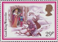 Christmas Carols 29p Stamp (1982) 'Good King Wenceslas'