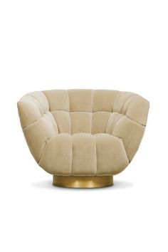 Metamorphosis is the transformation process from caterpillar to butterfly. It inspired the creation of ESSEX Swivel Chair. This barrel chair is upholstered in velvet and has a base in aged brass matte that adds charisma. It will add refined elegance to any living room set that only velvet chairs are capable of.  #livingroomdesign #contemporarylivingrooms #modernlivingrooms #classiclivingrooms #mid-centurylivingrooms #eclecticlivingrooms