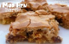 MUD HEN BARS - brown sugar, chocolate chips, marshmallows, maybe add some nuts