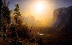 Albert Bierstadt, Yosemite Valley, Glacier Point Trail, c. 1873, oil on canvas