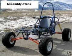 Dune Buggy Go Kart Cart Assembly Plans How to Build Homebuilt Project in Sporting Goods, Outdoor Sports, Go-Karts (Recreational) Go Kart Plans, Go Kart Frame Plans, E Quad, Go Kart Engines, Kart Cross, Homemade Go Kart, Vw Beach, Beach Buggy, Diy Go Kart