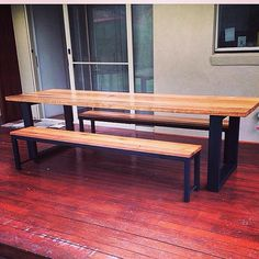 Recycled timber dining table Australian hardwood by UpcycledWoodOZ