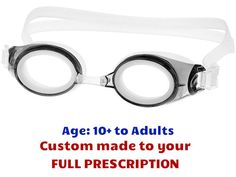 f7ef6413ad  10+ yrs to Adults  M2P Prescription Swim Goggles (Custom Made to  Prescription) - Grey