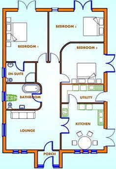 En poco menos de 10×14 metros esta casa logra reunir todo lo que una familiatípicapuede necesitar. Hay algunas cosas que no gustan. Las esquinas redondeadas no me parecen muyútileslas verdad y el pasillo tan ancho me parece un desperdicio de espacio. Sacando esos detalles me parece unadistribuciónbastante coherente bastantecómodadentro de su sencillez. Como podemos observar … Continúa leyendo Sencilla casa de una planta, tres dormitorios y 137 metros cuadrados Flat Roof House Designs, Sims House Design, Bungalow House Design, Bungalow House Plans, Craftsman House Plans, Small House Design, Cabin House Plans, 4 Bedroom House Plans, Modern House Plans