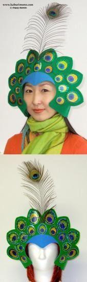Ideas para hacer sombreros para disfraz | máscara de pavo real