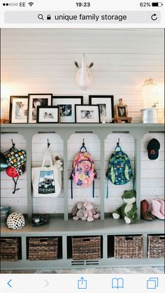 80 Modern Farmhouse Mudroom Entryway Ideas - Decorating Ideas - Home Decor Ideas and Tips Creating An Entryway, Mudroom Laundry Room, Mudroom Cubbies, Daycare Cubbies, Garage Mudrooms, Garage Lockers, Entry Way Lockers, Closet Mudroom, Laundry Cabinets