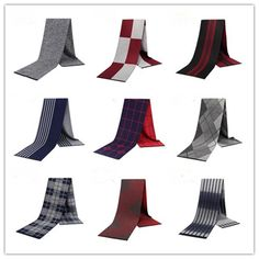 Mens Silk Scarves for Winter Double-Faced 100/% Silk with Brushed Lining Warm Luxury