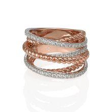 Diamond Set Spiral Ring