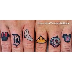 I think it would be cool to have these icons and more hidden throughout my body.// 25 Disney Villain Tattoos To Die For