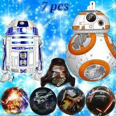 Star Wars Force Awakens Foil Balloons C Decor Shower Birthday Party Supplies lot #Qualatex #BirthdayChild