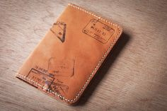 Personalized Leather Passport Holder with Your Travel by Loft852, $75.00