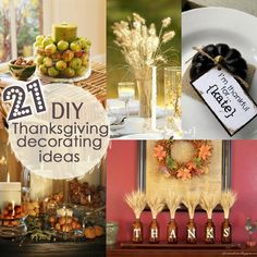 Thanksgiving decorating roundup... - the PEARL blog Thanksgiving Centerpieces, Diy Thanksgiving, Thanksgiving Table Settings, Autumn Centerpieces, Holiday Time, Holiday Ideas, Diy Decorating, Holiday Crafts, Holiday Decorations
