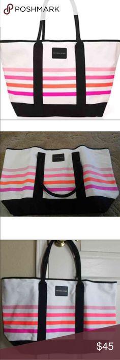 """🆕😍 Victoria's Secret swim beach tote bag Victoria's Secret swim beach tote bag. Brand New in packaging  100% Canvas, 15"""" L x 23"""" W Victoria's Secret Bags"""