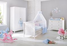 SOLDES - Chambre - Composition chambre massif en pin massif coloris blanc - Comforium