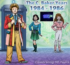 The Sixth Doctor and his Companions - Peri & Mel!
