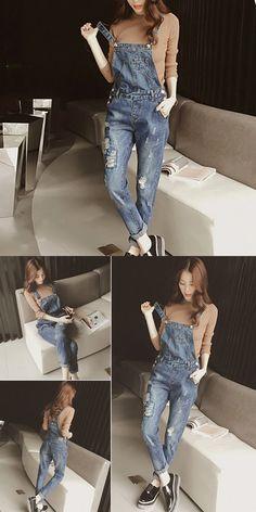 45d9b53f27b Fashion denim overalls women jeans jumpsuit rompers ladies vintage denim  jean overalls pant  women