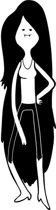 Marceline the vampire queen, Adventure Time  - Die Cut Vinyl Sticker Decal