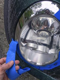 We found the best headlight restoration kit, and want to share our process with you. Restore your headlights inexpensively and in 30 minutes. Cleaning Headlights On Car, How To Clean Headlights, Headlight Repair, Headlight Cleaner, Car Cleaning Hacks, Car Hacks, Golden State, Headlight Restoration, Autos