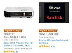 Amazon: Sandisk-SSD mit 480 GByte für 96,50 Euro frei Haus https://www.discountfan.de/artikel/technik_und_haushalt/amazon-sandisk-ssd-mit-480-gbyte-fuer-96-50-euro-frei-haus.php Mit zwei SSD-Schnäppchen startet Amazon in die neue Woche: Zum einen gibt es die Samsung Basic MZ-7KE1T0BW 850 Pro mit einem TByte für 334,90 Euro frei Haus, zum anderen ist die SanDisk SSD Plus mit 480 GByte für nur 96,50 Euro inklusive Lieferung zu haben. Amazon: Sandisk-SSD mit 480 GByte für