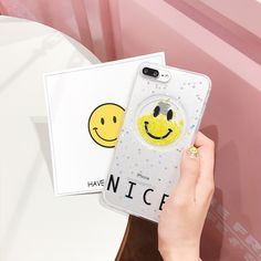 >> Click to Buy << Korean Sparkle Smiling Face Case for iPhone7 7plus Flow Bead Glitter Cover for Apple iPhone 6s 6 Plus Transparent Soft Case Cute #Affiliate