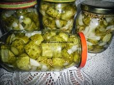 Ogórki koreczki Canning Recipes, Preserves, Pickles, Cucumber, Mango, Food And Drink, Homemade, Vegetables, Cooking