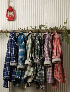 flannel….love the tree branch