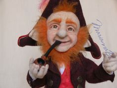 """Felt doll """"Captain of a sailing vessel""""  - pinned by pin4etsy.com"""