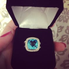 Big Blue David Yurman ring. Couldn't be more obsessed!!!