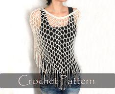 CROCHET PATTERN  Crochet Spiderweb Poncho Crochet Poncho