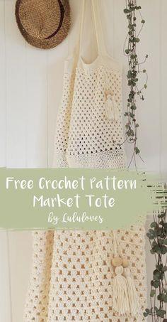 Free Crochet Pattern - Market Tote Bag | Lululoves Crochet