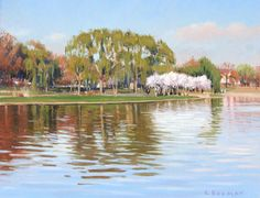 Independence Island, by Larry Selman, original in Private collection