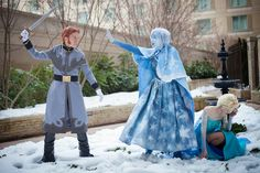 This Frozen Cosplay Wins Everything.... nope nope nope nope. nope train heading to nope Ville.