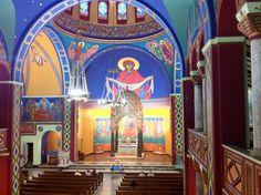 Interior of St Mary's Byzantine Catholic Church, Jonestown, PA.