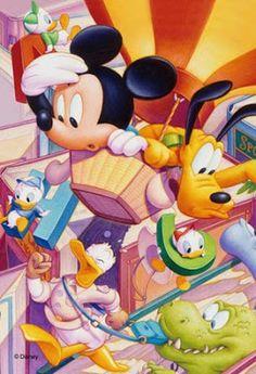 Disney Anime Toys - DAT: Disney Mickey, Minnie and Friends Petit Jigsaw Puz...