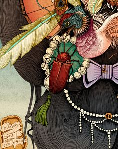 Rlon Wang is an illustrator designer from Shenzhen, China. Impetuous World Life embeds four different highly detailed illustrations of animals and nature compositions, all in an unique Japanese style. Website / Behance via [taxi] Illustration Example, Graphic Illustration, Japanese Art Modern, Chinese Artwork, La Art, Insect Art, Samurai Art, China Art, Arte Pop