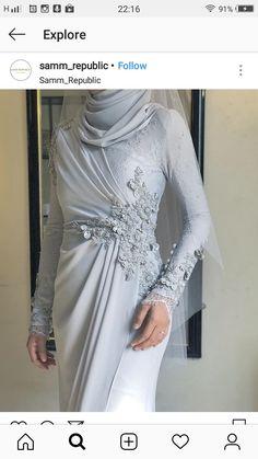 Hijab Evening Dress, Hijab Dress Party, Hijab Style Dress, Evening Dresses, Modest Dresses, Simple Dresses, Couture Dresses, Fashion Dresses, Malay Wedding Dress