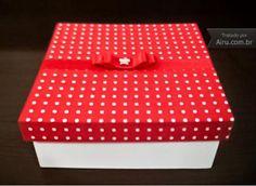 Caixa MDF com tecido - R$30.00