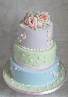 Wedding Cake in mixed pastels