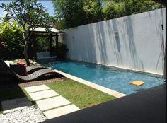backyard pool against wall - Google Search