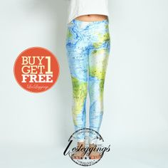 World Map Tights-Game of  Thrones Clothing-Mother of  Dragons Leggings-Daenerys Pants-DDK0186