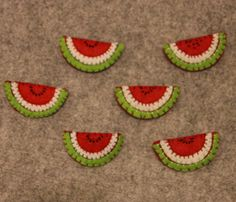 watermelon brooches