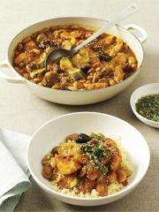 Rezept von Jane Hornby: Butterbohnen-Tajine mit Chermoula und Couscous - Valentinas-Kochbuch.de - kochen, essen, glücklich sein