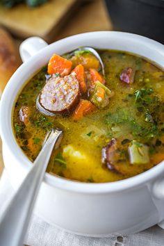 Harvest Stew with Smoked Sausage | thecozyapron.com http://thecozyapron.com/harvest-stew-with-smoked-sausage/