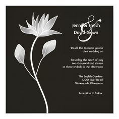 Contemporary Silver Magnolia Wedding Invitation  Click on photo to purchase. Check out all current coupon offers and save! http://www.zazzle.com/coupons?rf=238785193994622463&tc=pin