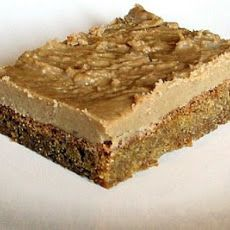 Butterscotch Brownies with Caramel Icing