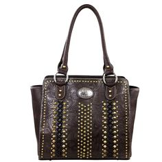 Montana West Concealed Carry Collection Studded & Stitched Handbag (MW146G-8250)